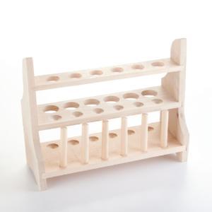 Thirteen-Well, Six-Peg Wooden Test Tube Rack