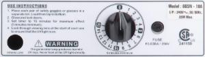 UV Goggle Sanitizing Cabinet 220 V, 36 Goggle Capacity, Eisco Scientific
