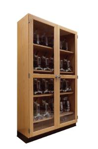 Wooden Microscope Storage Cabinet