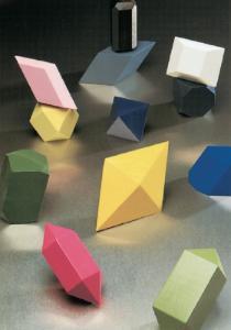 Wooden Crystal Models
