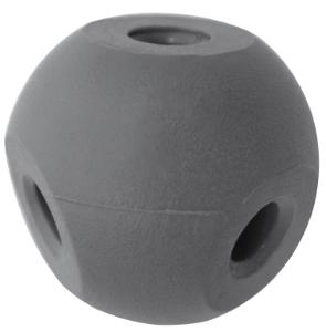 Four Hole Molecular Ball, Grey