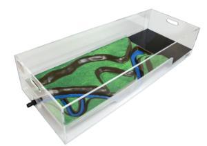 Stormwater Floodplain Simulation System, Diorama-Long-Angle-L