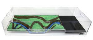 Stormwater Floodplain Simulation System, Diorama-Long-Straight-on