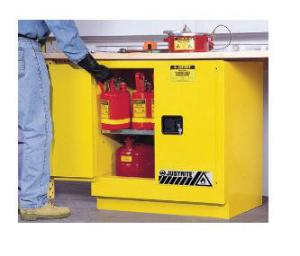 Justrite® Sure-Grip® EX Undercounter Yellow Flammable Storage Cabinets