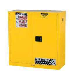 Justrite® Sure-Grip® EX Yellow Flammable Safety Cabinet
