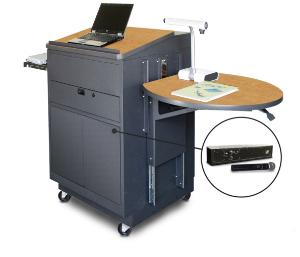 Vizion Mobile Media Center Cart with Lectern, Marvel