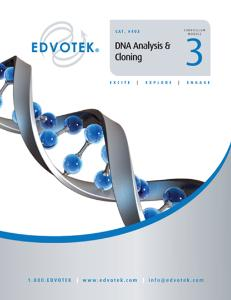 Module 3: DNA Analysis & Cloning
