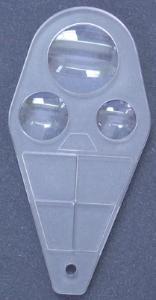Triple Lens Plastic Magnifier