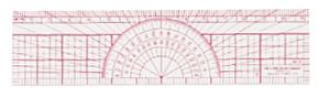 Westcott® Graph Protractor Ruler, Acme United