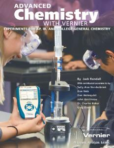 Advanced Chemistry with Vernier Lab Book