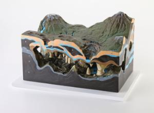 Karst Caves and Water Action Model