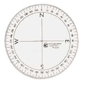 Westcott® 360° Compass Protractor, Acme United