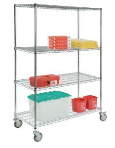 VWR® Wire Carts with Round Posts