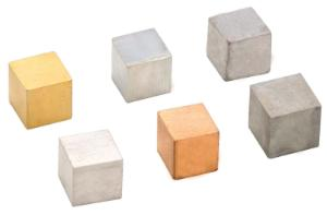 Assorted Metal Cubes