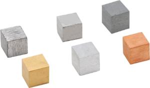 Metal Cubes, Set for Density