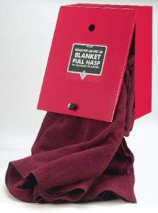 Wool Fire Blanket with Rectangular Wall Case