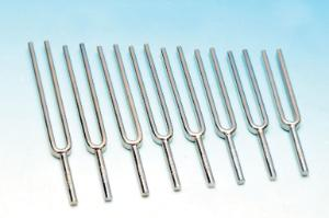 Steel Tuning Forks, Set of 8