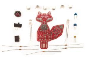 Intermediate Soldering Kit, Solar Powered LED Fox