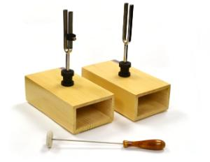 Sympathetic Tuning Fork on Wooden Base