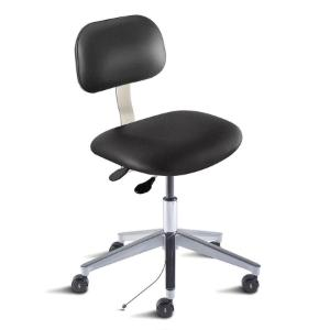 Biofit Bridgeport series static control chair, medium seat height range, aluminum base and casters