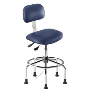 Biofit Bridgeport series static control chair. high seat height range with steel base, affixed footring and glides