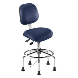 Biofit elite series static control chair, high seat height range with steel base, affixed footring and glides