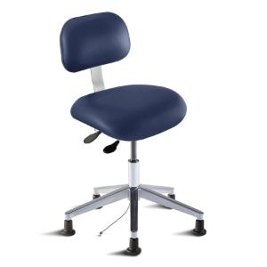Biofit eton series static control chair, medium seat height range with aluminum base and glides