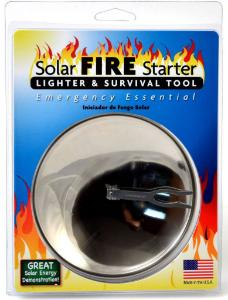 Solar Fire Starter and Survival Tool