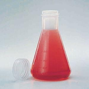 Polymethylpentene Erlenmeyer Flask with Screw Cap