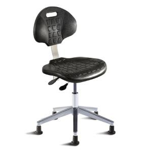 Biofit UniqueU series ergonomic chair, Low seat height range with aluminum base and glides