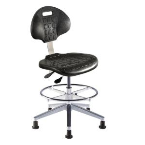 Biofit UniqueU series ergonomic chair, medium seat height range with aluminum base, adjustable footring and glides