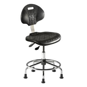 Biofit UniqueU series ergonomic chair, medium seat height range with steel base, affixed footring and glides