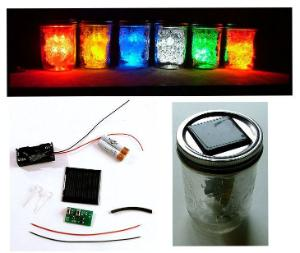 Solar LED Jar Light Kit (Soldering)