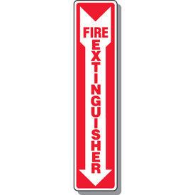 Fire Extinguisher Sign with Arrow Down