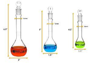 Flask set 10 25 50 ml class a