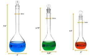Flask set 50, 100, 250 ml, class A
