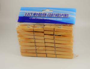 Clothespins wood pk32