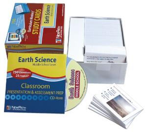 Curriculum Mastery® Study Cards: Middle School Earth Science Review