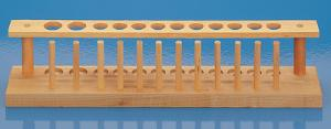 12-Place Wood Test Tube Support