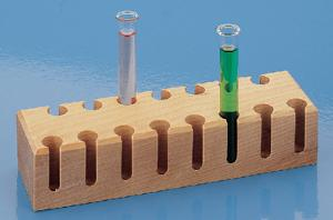 15-Place Wood Test Tube Support