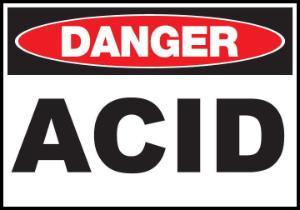 ZING Green Safety Eco Safety Sign DANGER, ACID, ZING Enterprises