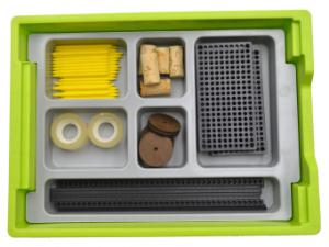 Six Unequal Compartment Tray Insert In Use