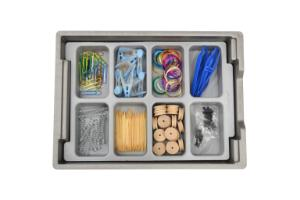 Eight Compartment Tray Insert In Use