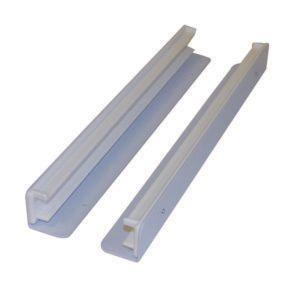Tray Clips for P6 StopSafe Runner, Dove Gray