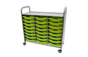 Gratnells Callero Plus Treble Tray Cart Tray Color Options
