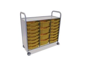 Gratnells Callero Plus Treble Tray Cart 4 Deep and 16 Shallow Trays - 470316-452