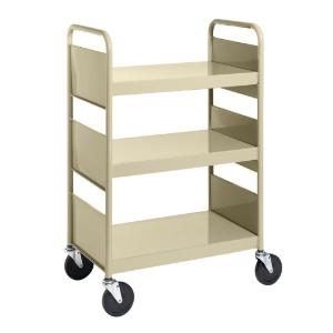 Almond Cart with Three Flat Shelves
