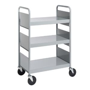 Gray Cart with Three Flat Shelves