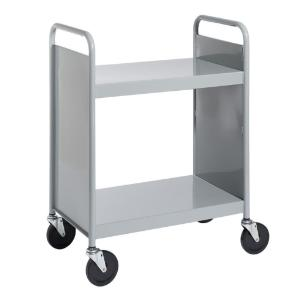 Gray Cart with Two Flat Shelves