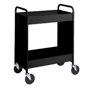 "Black Cart with Two 4"" Deep Trays"